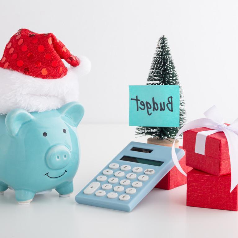 圣诞节预算的概念