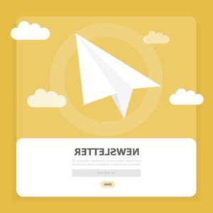 窗口与白色的飞机和订阅新闻在互联网矢量id1204878908